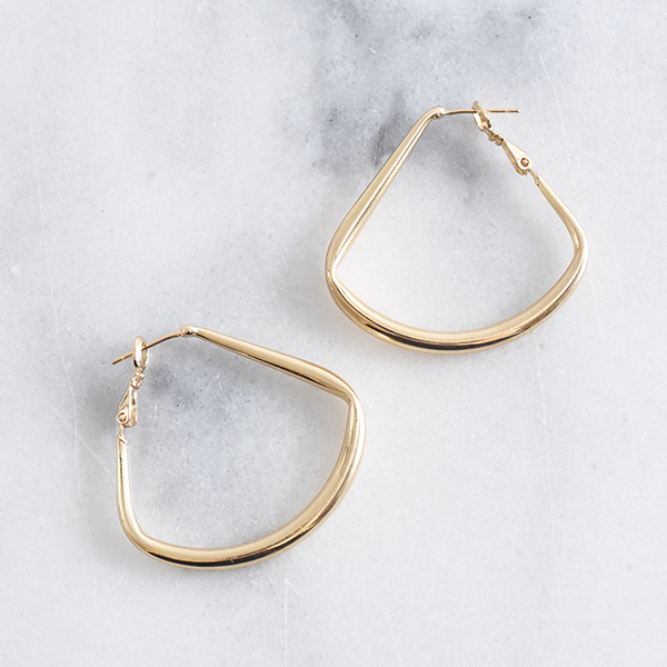 フックフープピアス【Cholet hook hoop pierced earrings】