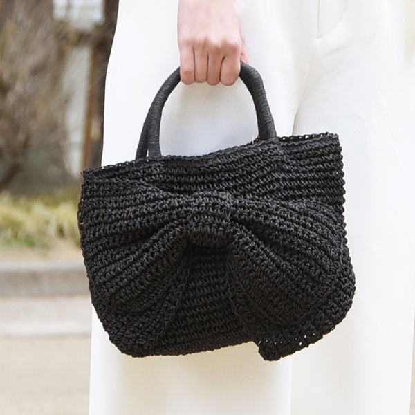 リボンかごバッグ【Romane ribbon basket bag】