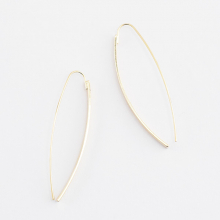 カーブラインピアス【Bormujos curved line pierced earrings】