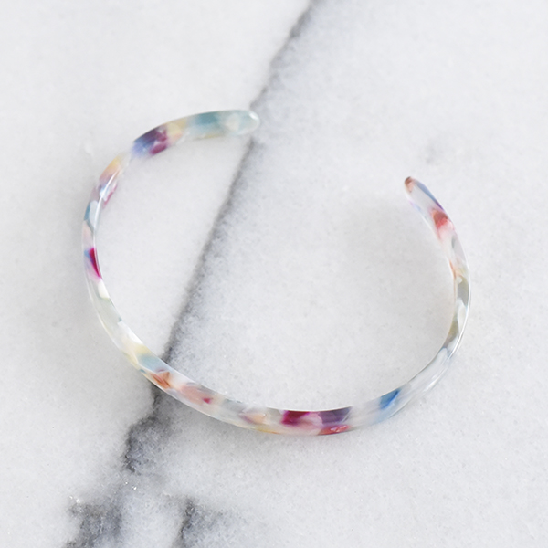 シンプルべっ甲バングル【Rodez simple tortoiseshell bangle】
