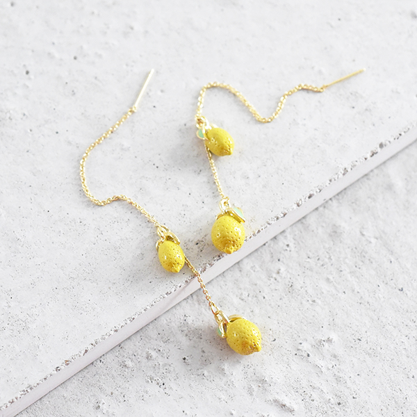 レモンアメリカンピアス【Amiens lemon american pierced earrings】