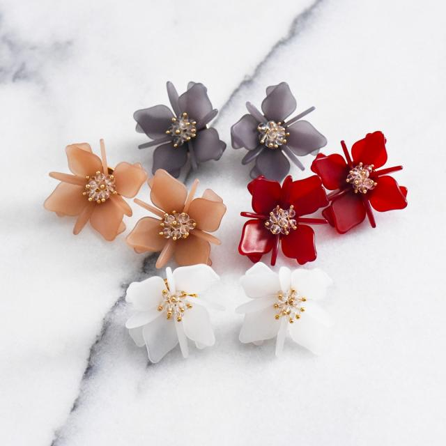 マットフラワーピアス【Attigny flower pierced earrings】