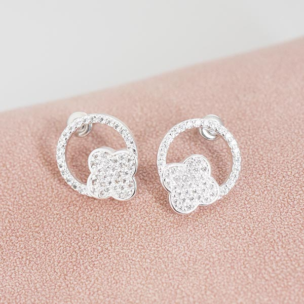 きらっきらフラワーピアス【Ozillac glitter flower pierced earrings】