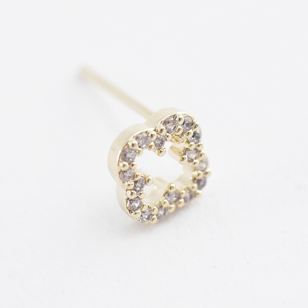 フラワーリースピアス【Melun lease pierced earrings】