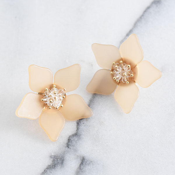 アクリルフラワーピアス【Metz acrylic flower pierced earrings】