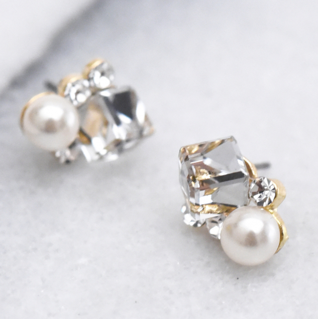 ビジューパールピアス【Biziat bijou pearl pierced earrings】