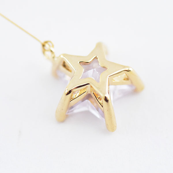 星イヤリング【Dijon star clip on earlings】